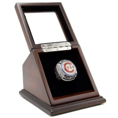 MLB 2016 CHICAGO CUBS WORLD SERIES CHAMPIONSHIP REPLICA FAN RING WITH WOODEN DISPLAY CASE BOX