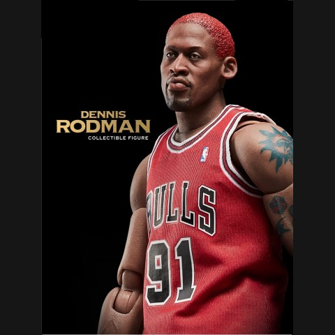 NBA Dennis Rodman 12 inch Red Jersey Action Figure