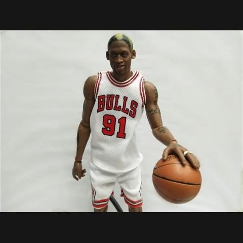 huge discount b8e5f fa5bb NBA Dennis Rodman 12 inch White Jersey Action Figure