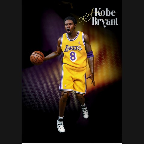 NBA Kobe Bryant 16 inch Yellow Jersey 1:6 Action Figure