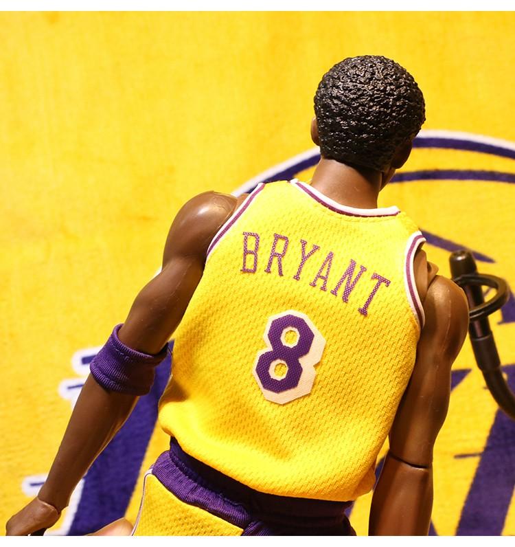 c538544a3838 NBA Kobe Bryant 16 inch Yellow Jersey 1 6 Action Figure