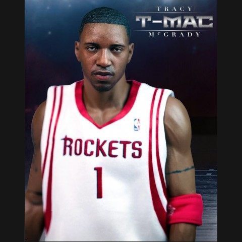 NBA Tracy McGrady 16 inch White Jersey 1:6 Action Figure