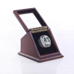 NFL 2017 Super Bowl LII Philadelphia Eagles Championship Replica Fan Ring with Wooden Display Case