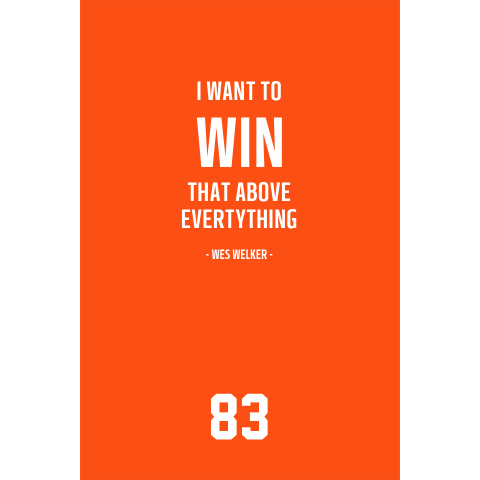 Wes Welker Denver Broncos Inspirational Win Quote Poster-Downloadable Digital PNG File - NFL Memorabilia