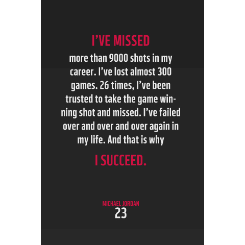 Michael Jordan #23 Chicago Bulls Inspirational Succeed Quote Poster Print - Downloadable Digital PNG File-Wall Art for Basketball Fans