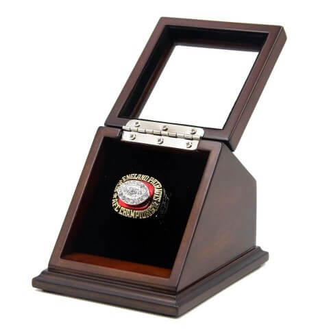 Wooden Display Case for Single Championship Ring, ring not included