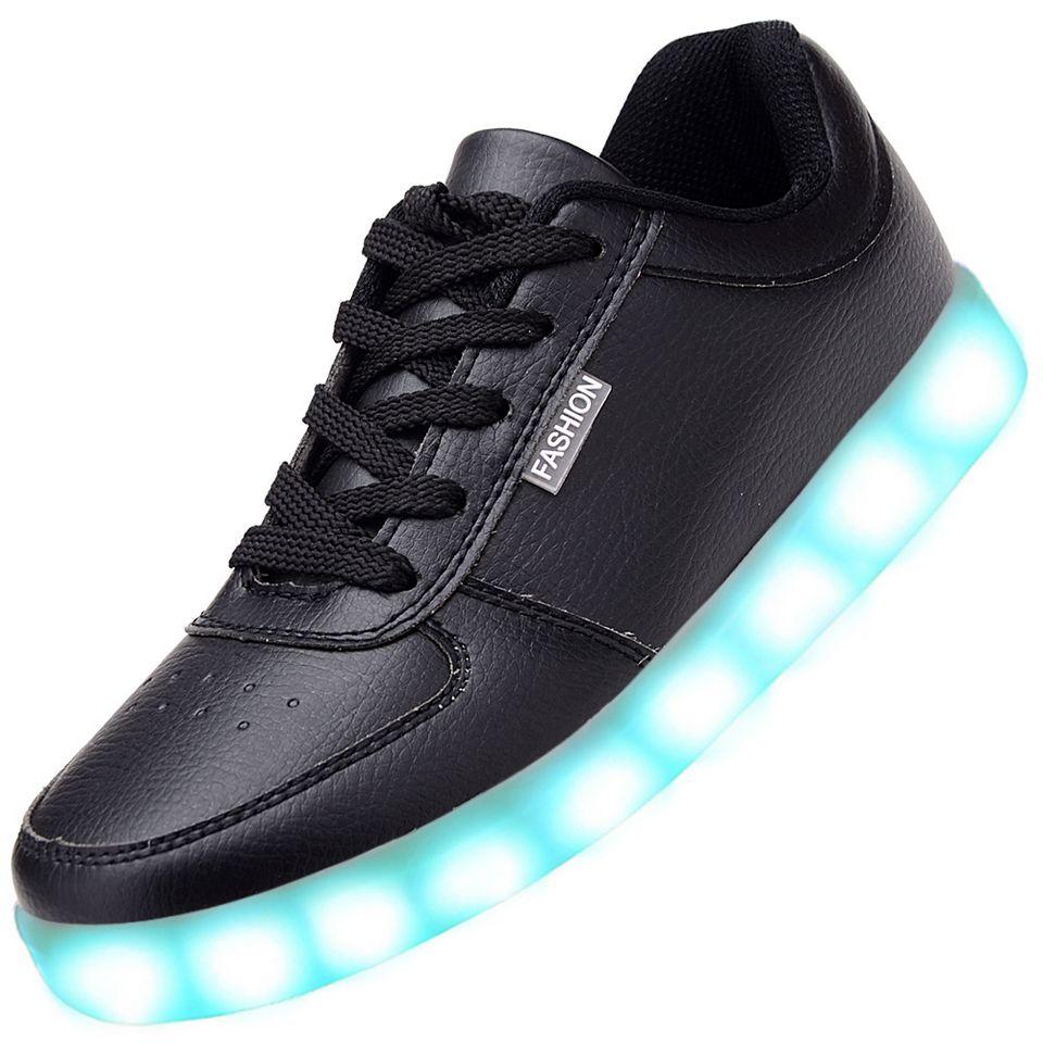 Black Led Light Up Shoes