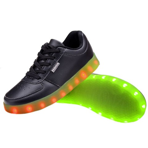 Women USB Charging LED Light Up Shoes Flashing Sneakers - Blue