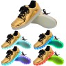 Women USB Charging LED Light Up Shoes Flashing Sneakers - Gold