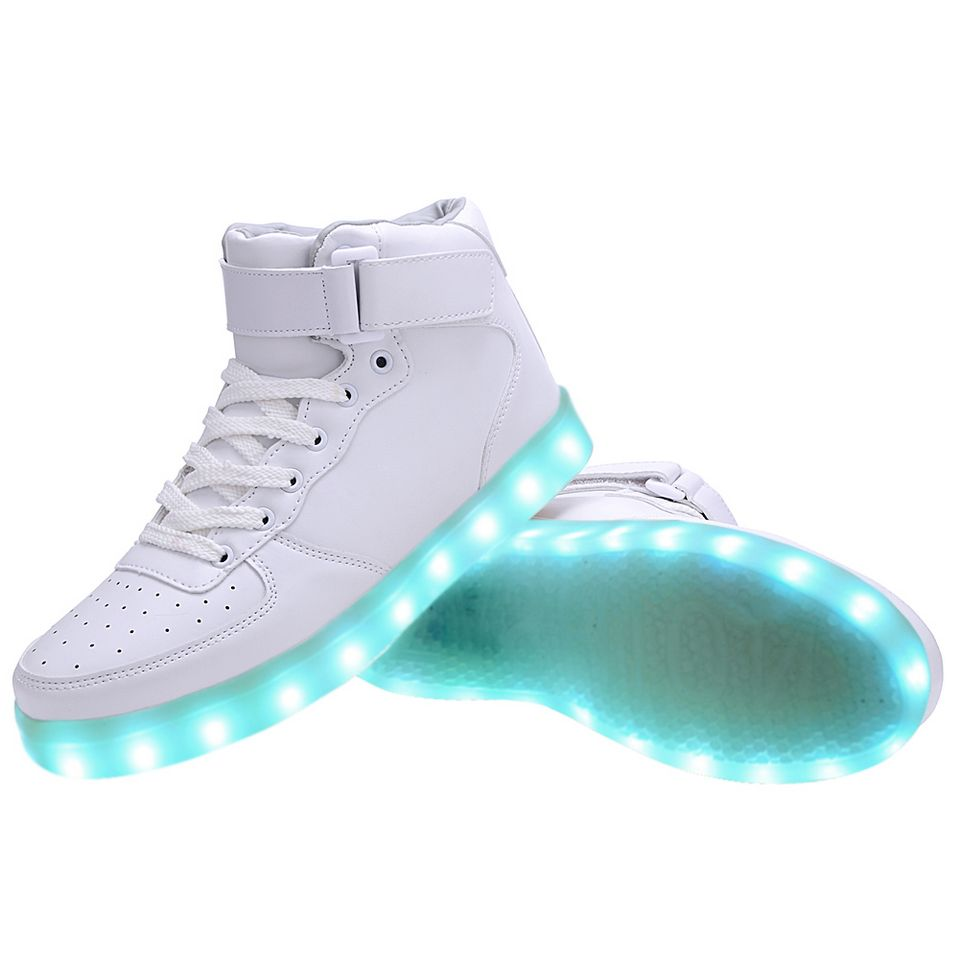 high top usb charging led light up shoes