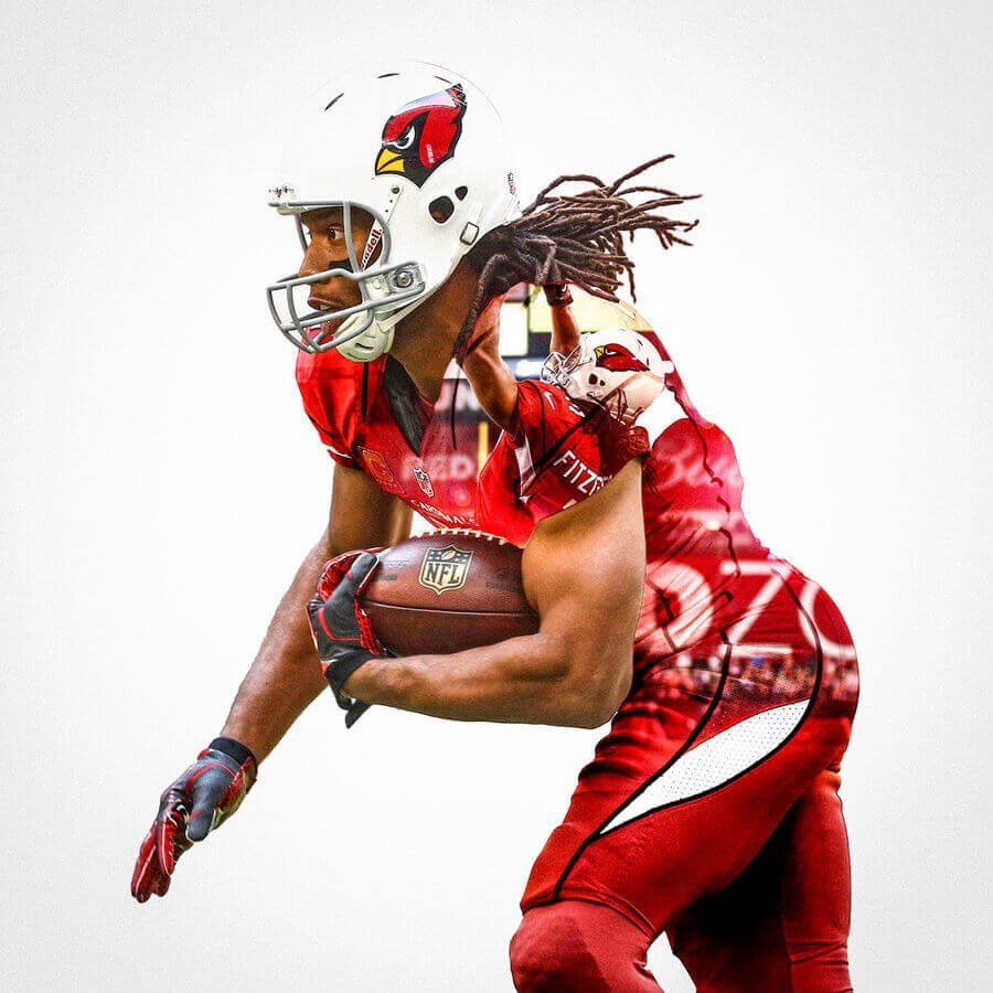 Arizona Cardinals Larry Fitzgerald Football Wall Posters with 6