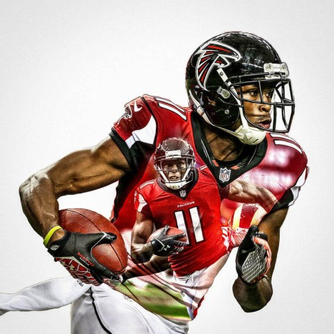 Atlanta Falcons Julio Jones Football Wall Posters with 6 Sizes Unframed