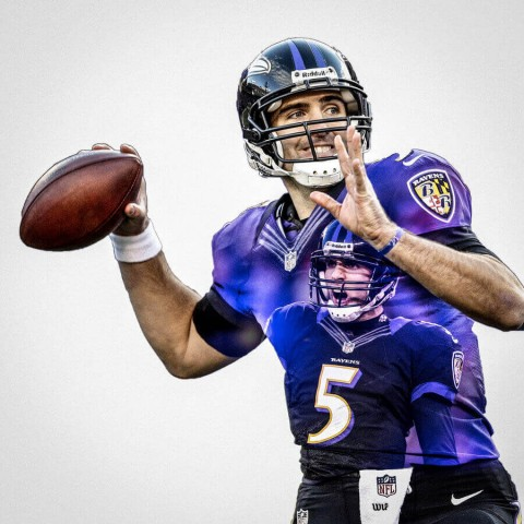 Baltimore Ravens Joe Flacco Football Wall Posters with 6 Sizes Unframed