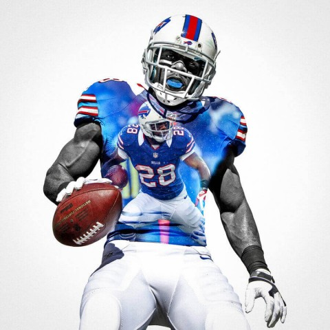 Buffalo Bills C J Spiller Football Wall Posters with 6 Sizes Unframed