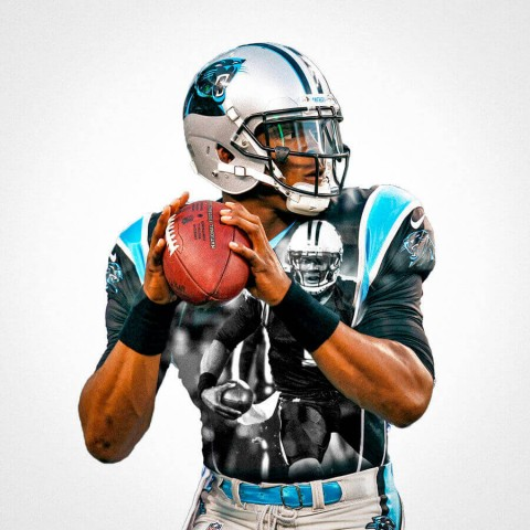 Carolina Panthers Cam Newton Football Wall Posters with 6 Sizes Unframed