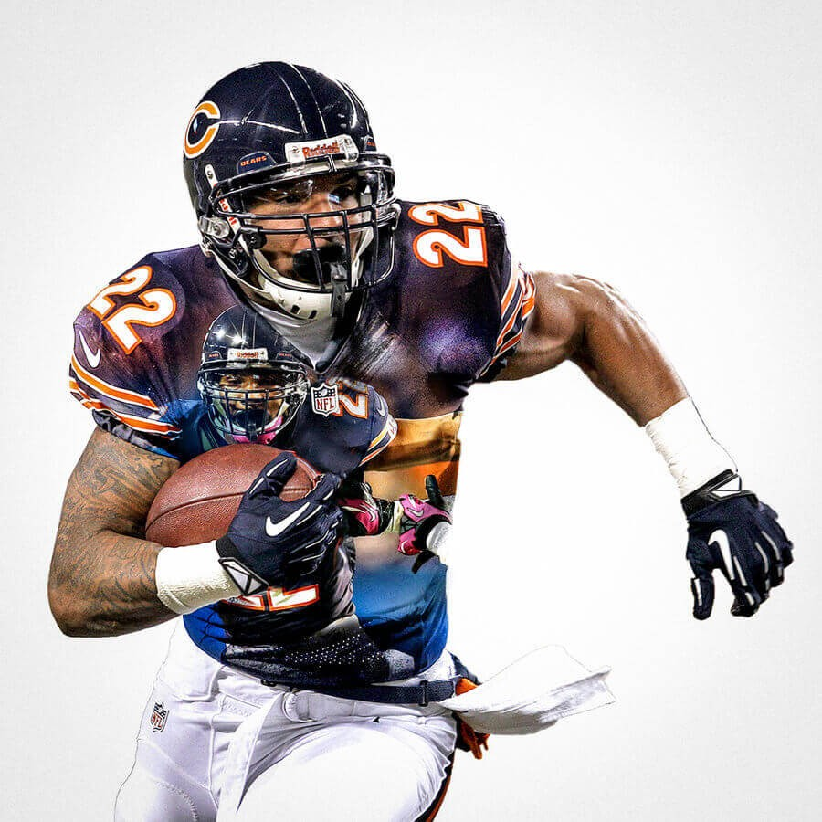 Chicago Bears Matt Forte Football Wall Posters With 6