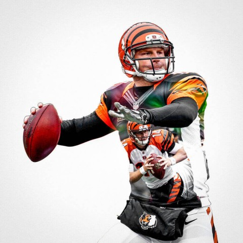 Cincinnati Bengals Andy Dalton Football Wall Posters with 6 Sizes Unframed