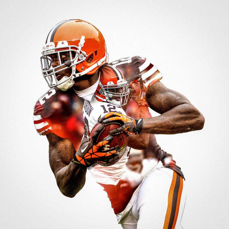 Cleveland Browns Josh Gordon Football Wall Posters With 6