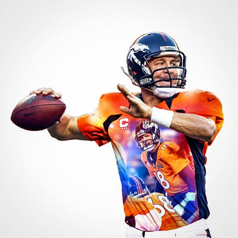 Denver Broncos Peyton Manning Football Wall Posters with 6 Sizes Unframed