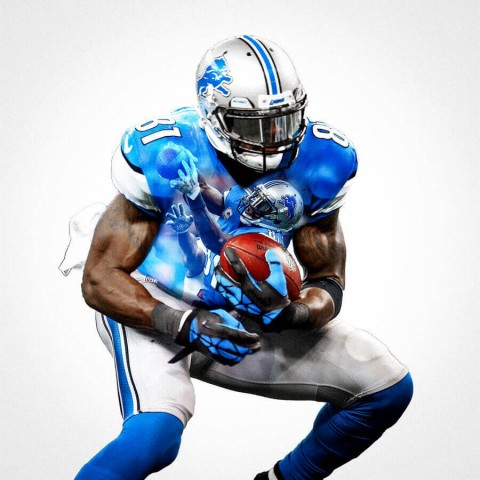 Detroit Lions Calvin Johnson Football Wall Posters with 6 Sizes Unframed