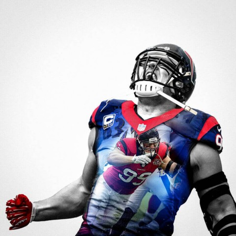 Houston Texans J J Watt Football Wall Posters with 6 Sizes Unframed