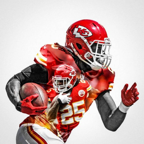 Kansas City Chiefs Jamaal Charles Football Wall Posters with 6 Sizes Unframed