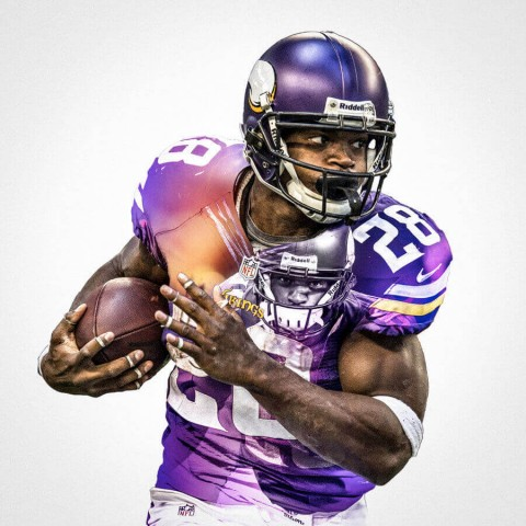Minnesota Vikings Adrian Peterson Football Wall Posters with 6 Sizes Unframed