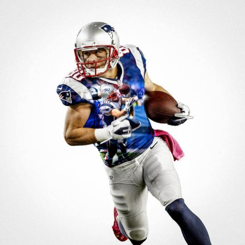 New England Patriots Danny Amendola Football Wall Posters with 6 Sizes Unframed