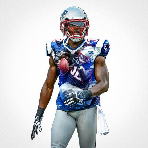 New England Patriots Devin Mccourty Football Wall Posters with 6 Sizes Unframed