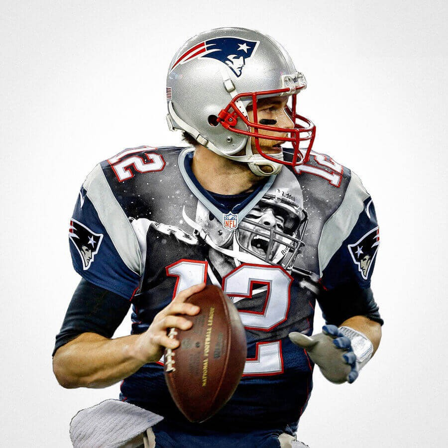 536300bc6ae65 New England Patriots Tom Brady Football Wall Posters with 6 Sizes ...