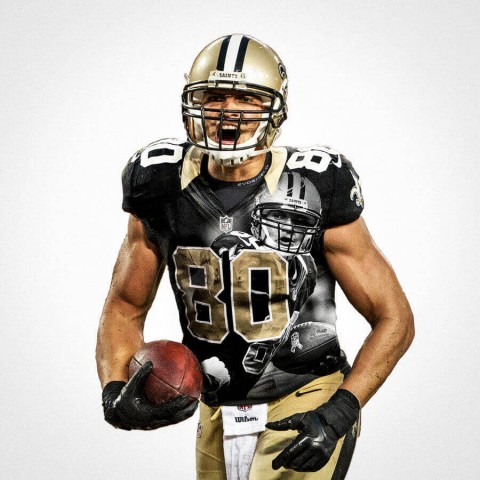 New Orleans Saints Jimmy Graham Football Wall Posters with 6 Sizes Unframed