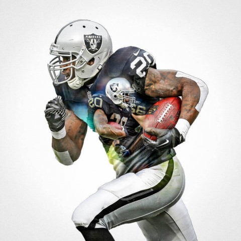 Oakland Raiders Darren Mcfadden Football Wall Posters with 6 Sizes Unframed
