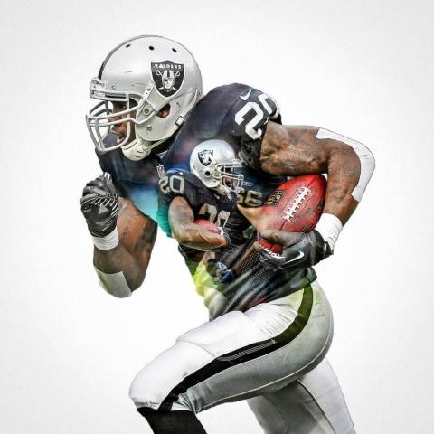 Oakland Raiders Darren Mcfadden Football Wall Posters with 6 Sizes Unframed