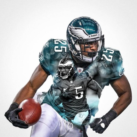 Philadelphia Eagles Lesean Mccoy Football Wall Posters with 6 Sizes Unframed