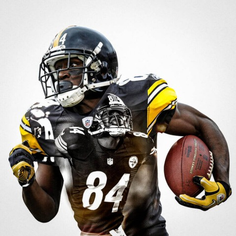 Pittsburgh Steelers Antonio Brown Football Wall Posters with 6 Sizes Unframed