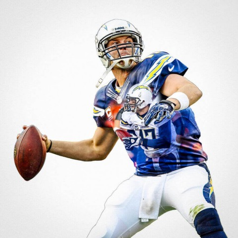 San Diego Chargers Philip Rivers Football Wall Posters with 6 Sizes Unframed