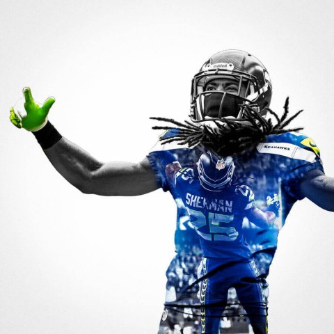 Seattle Seahawks Richard Sherman Football Wall Posters with 6 Sizes Unframed