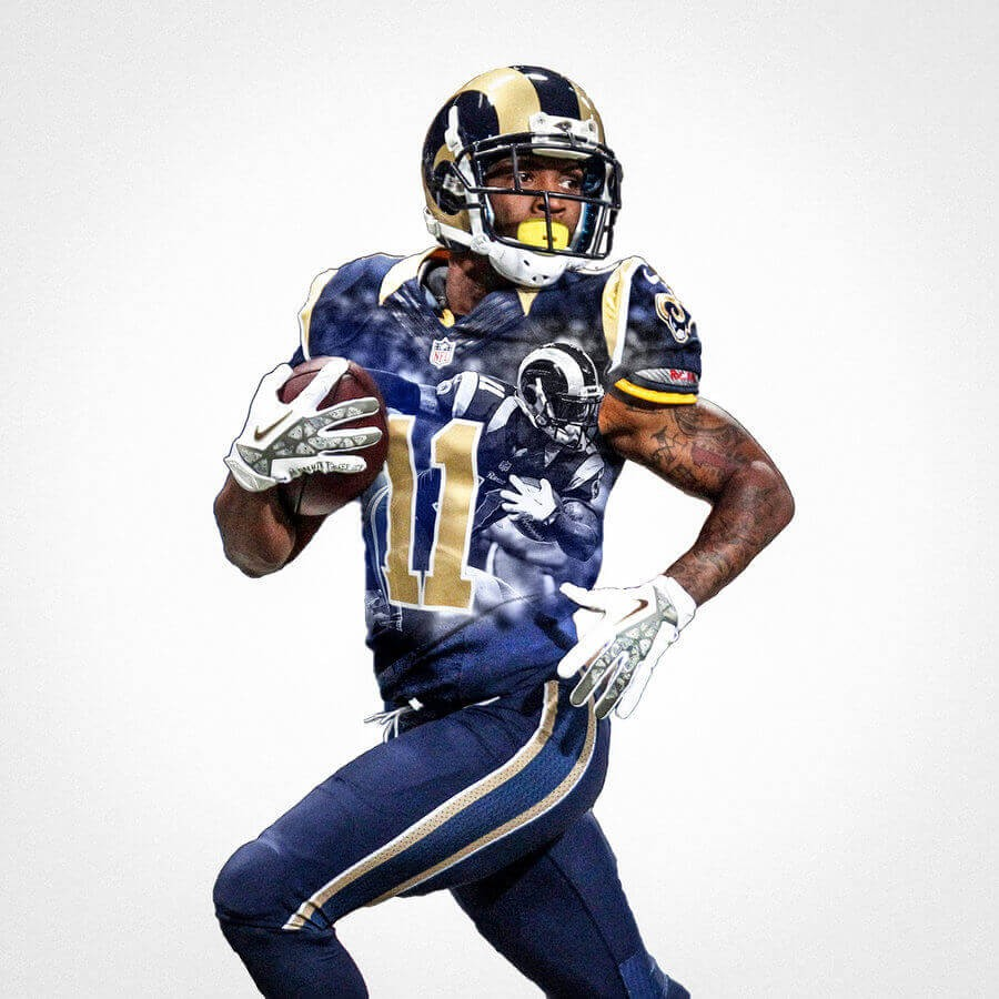 St Louis Rams Tavon Austin Football Wall Posters With 6