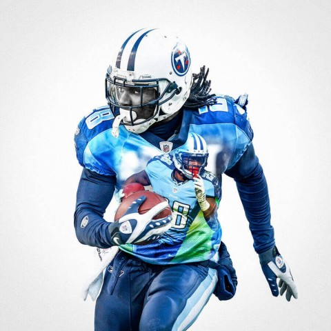 Tennessee Titans Chris Johnson Football Wall Posters with 6 Sizes Unframed