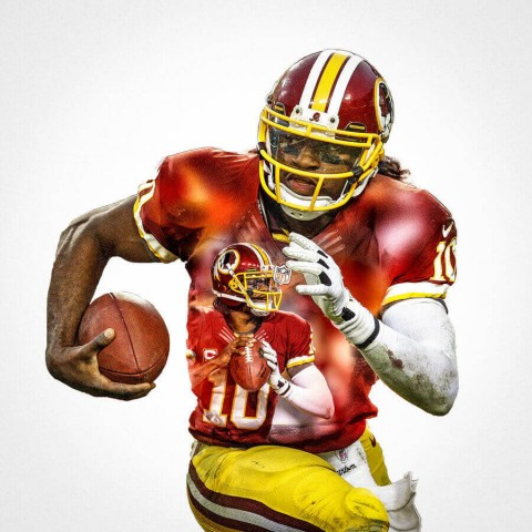 Washington Redskins Robert Griffin Football Wall Posters with 6 Sizes Unframed
