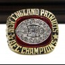 AFC 1985 New England Patriots Championship Replica Fan Ring with Wooden Display Case