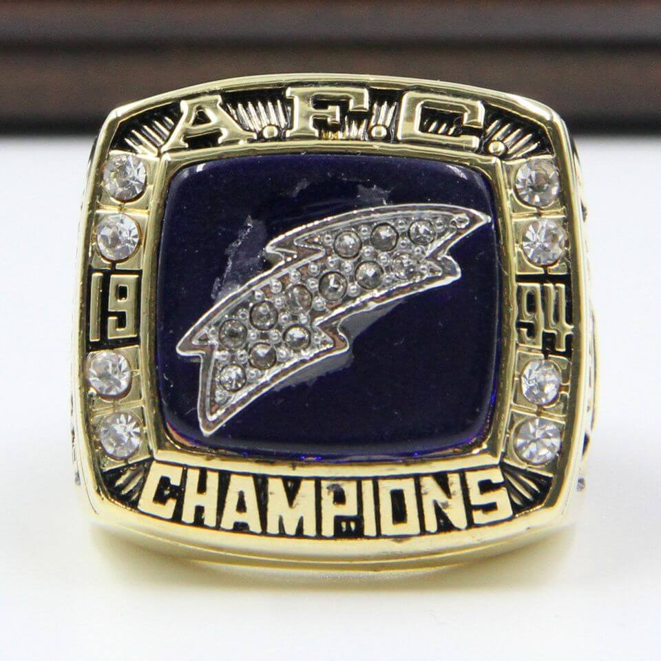 Afc 1994 San Diego Chargers Championship Replica Ring