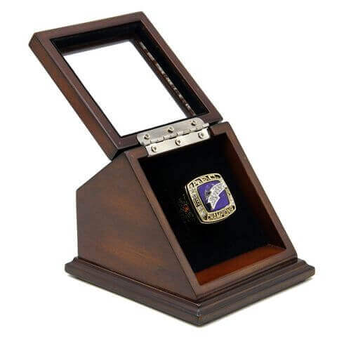 AFC 1994 San Diego Chargers Championship Replica Fan Ring with Wooden Display Case