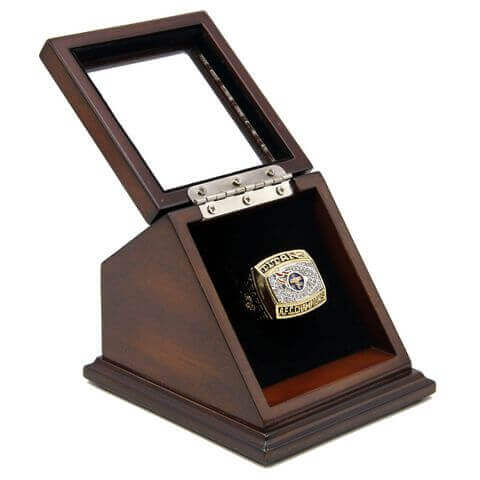 AFC 1999 Tennessee Titans Championship Replica Fan Ring with Wooden Display Case