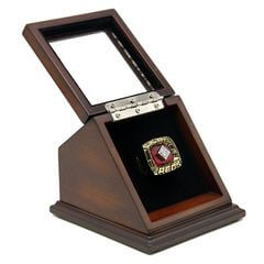 MLB 1975 Cincinnati Reds World Series Championship Replica Fan Ring with Wooden Display Case