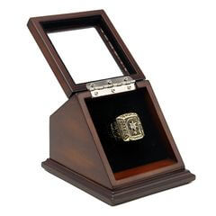 MLB 1976 Cincinnati Reds World Series Championship Replica Fan Ring with Wooden Display Case