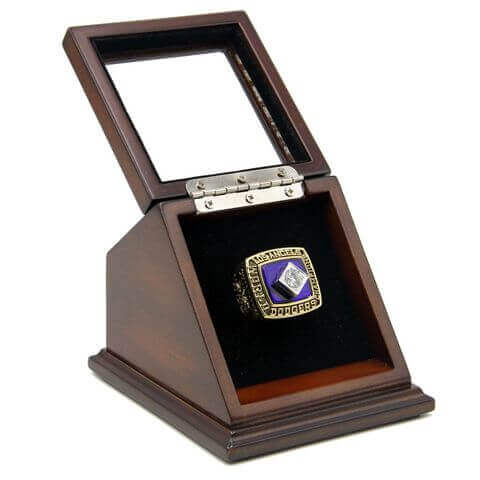 MLB 1981 Los Angeles Dodgers World Series Championship Replica Fan Ring with Wooden Display Case
