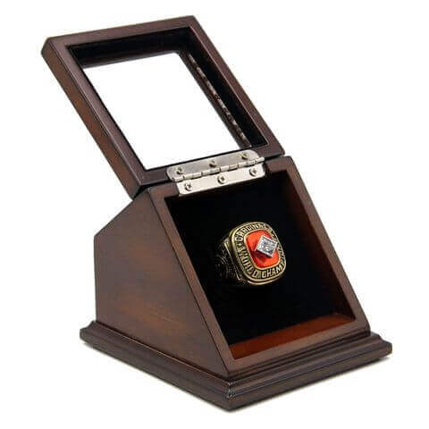 MLB 1982 St. Louis Cardinals World Series Championship Replica Fan Ring with Wooden Display Case