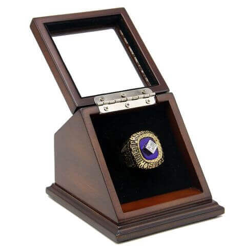 MLB 1988 Los Angeles Dodgers World Series Championship Replica Fan Ring with Wooden Display Case