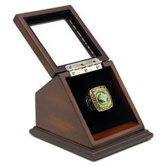 MLB 1989 Oakland Athletics World Series Championship Replica Fan Ring with Wooden Display Case